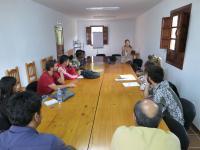Participantes del curso durante la segunda jornada, celebrada en el Albergue Rural Fuente Agria en Villafranca de Córdoba