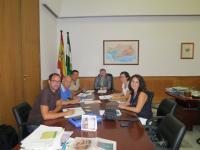 Representantes del Foro junto con David García Ostos y Carlos Escandón de la Dirección General de Comunicación Social