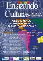 Imagen del cartel de Enlazando Culturas