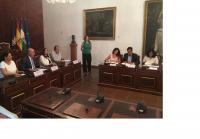 Foto de la firma del convenio con Diputación de Córdoba