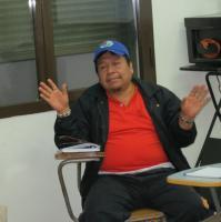 Guzmán Caisamo, director del Instituto Departamental para la educación indígena de la OIA