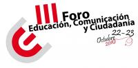 Lotipo del III Foro internacional de Educación, Comunicación y Ciudadanía