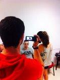 Chavales del municipio de Armilla practican con la cámara