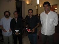 El director del IAJ, el presidente  de Batá y el coordinador del encuentro inauguran VI Jornadas