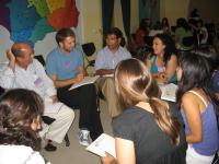 En los grupos de trabajo, durante el foro provincial celebrado en Córdoba