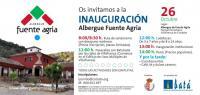 Invitación a la fiesta de inauguración del Albergue Fuente Agria